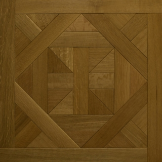 Castle Collection: CORONA OAK - Bordeaux design (rift & quartered, wire brushed)