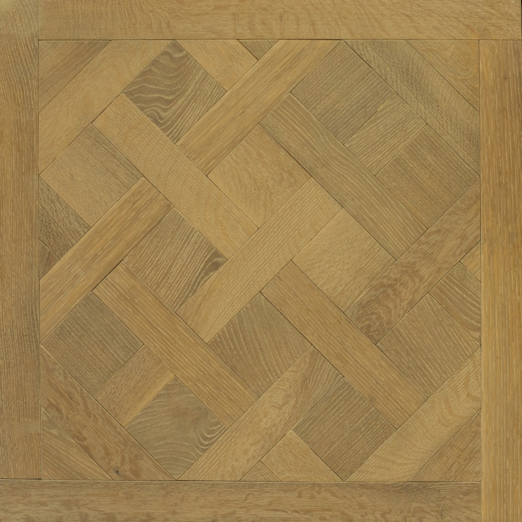 Castle Collection: LIME OAK - Versailles design (rift & quartered, wire brush)