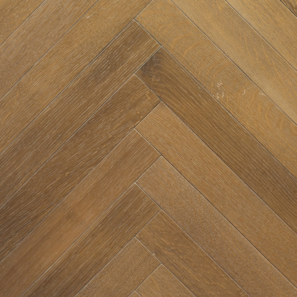 Castle Collection: TROPEZ OAK - Herringbone design (rift & quartered, wire brush)