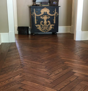 herringbone design white oak